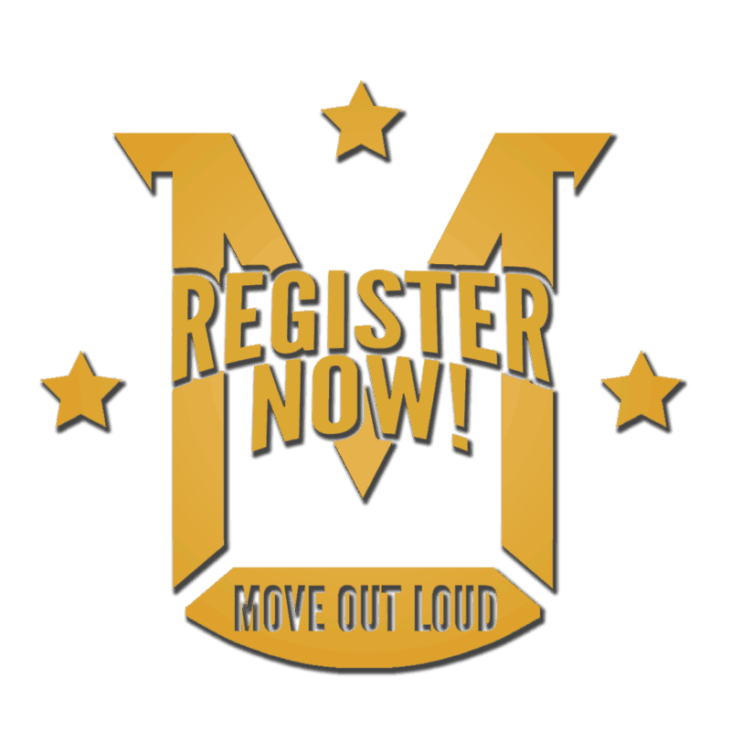 register for classes at Move out loud