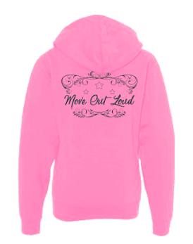 Light Pink Zip Up Hoodie